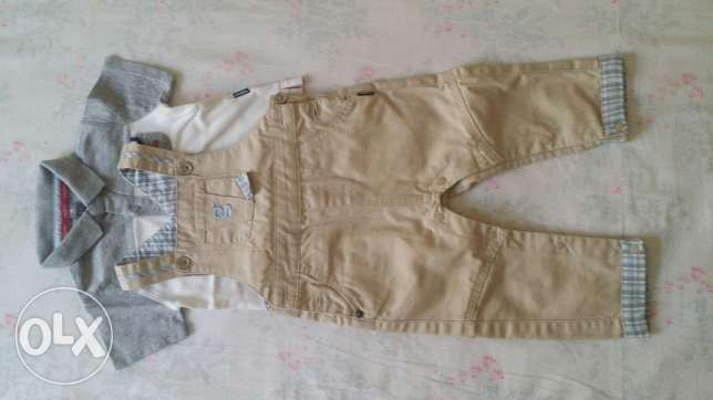 Boy overall and t-shirt