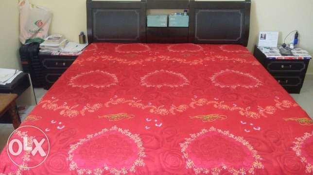 BEDROOM SET ( Bed + almirah + 2 side tables + dressing table )