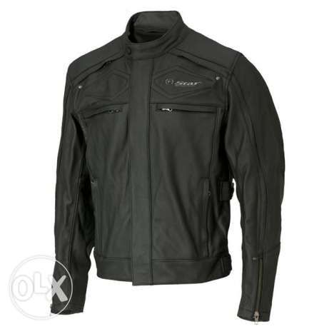 Black original leather Jacket from Yamaha
