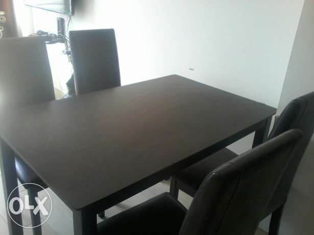 Dinning set , Table and 4 chairs