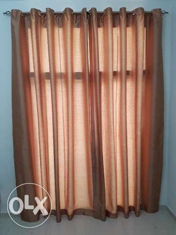 Curtain with holder ( Window size 270 x 170 cms)