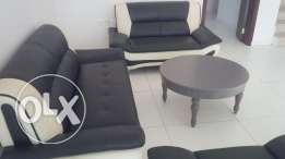 Sofa Set of leather with centre table: