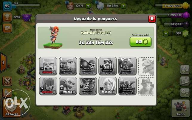 The coc town hall9 almost max