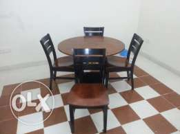 Very Good Condition - Round Dining Table - Home Center - 1 + 4