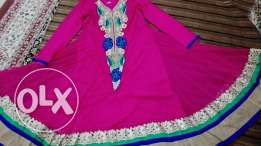 For sale long annarkali very good color beauty look only Ro15