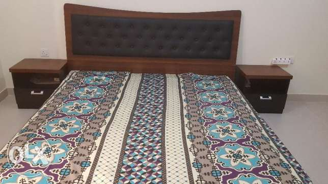 King size Bed with 2 side tables and Mattress
