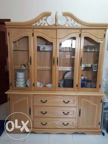 New-Like Show Case with in-built cupboards and drawers!