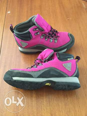 Girls walking boots. Karrimore size 34 and Mountain Warehouse size 36.