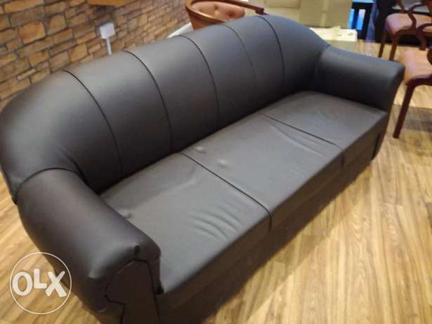 Leather sofa collection for sell + Showcase Coffee Table (USED)
