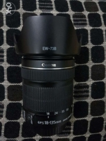 Canon 18-135 IS STM lens with hood