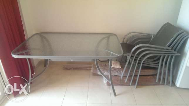 Hartman garden table and 4 chairs from Alasfoor, expat owned