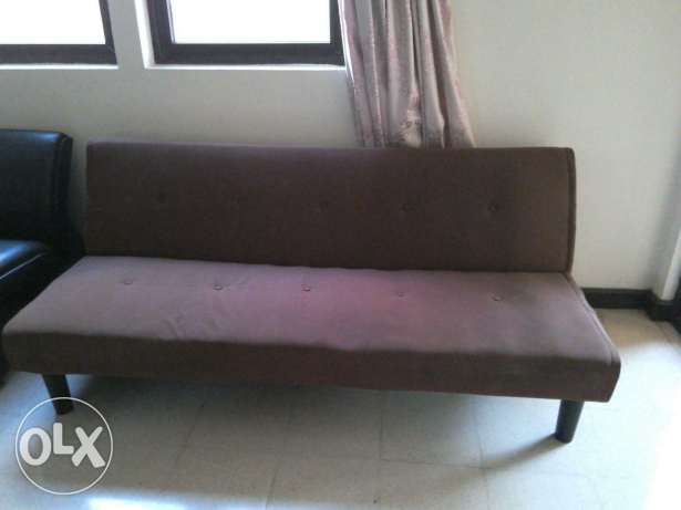 Brown Sofabed 30 Omr for sale مسقط -  4