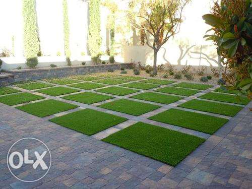 bin artificial grass 36mm brown green