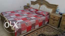 Double Bed+mattress+2 Side Tables+3 doors Cupboard+ TV Trolly+Dressing