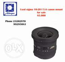used sigma 10-20 lens canon mount