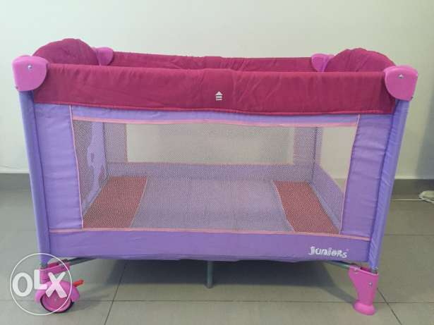 Juniors Travel Cot with Mattress & Carry Bag بوشر -  1