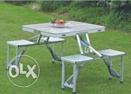 picnic foldable table with 4 chair