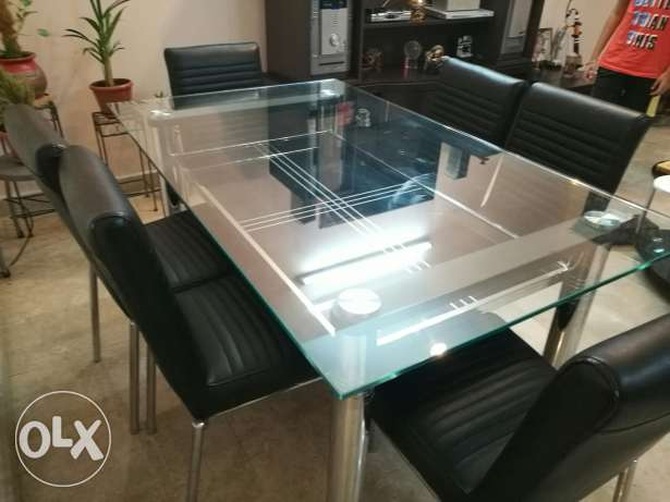 Dining table with 6 chairs. Negotiable. مسقط -  4