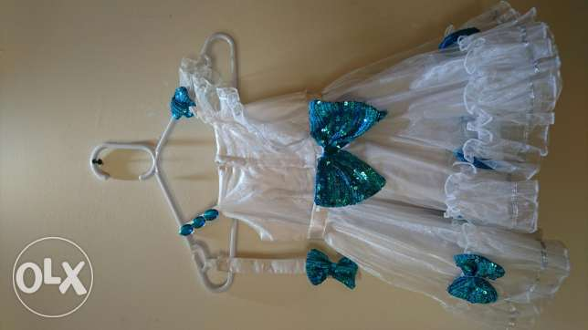 Extremely gorgeous White party frock for kids مسقط -  2