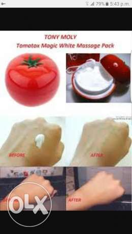 Tomatoes magic mask for women's and men just in 5 rials for whitening