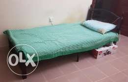 Steel Cot With Mattress for Sale ( Urgent )