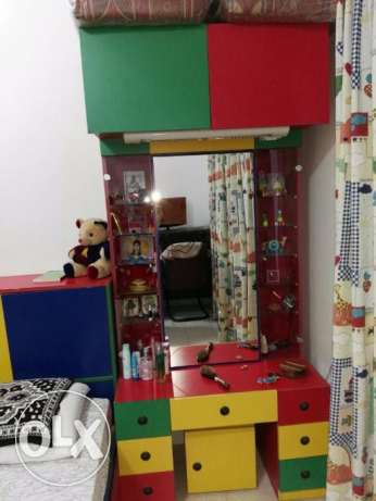 Custom made Children Bedroom, Wardrobe, Dressing table with storage مطرح -  4
