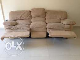3 seater recliner sofa & dining table for urgent sale