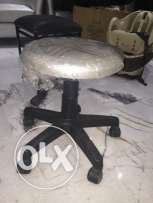 small silver chair for sale in a good condition .