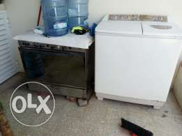 Wash machine and gas cooker