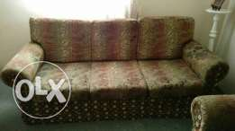 Sofa set 3+1+1, perfect condition, clean with base plywood