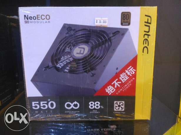 Gaming Power Supply Antec 550 watts( 80+Bronze)