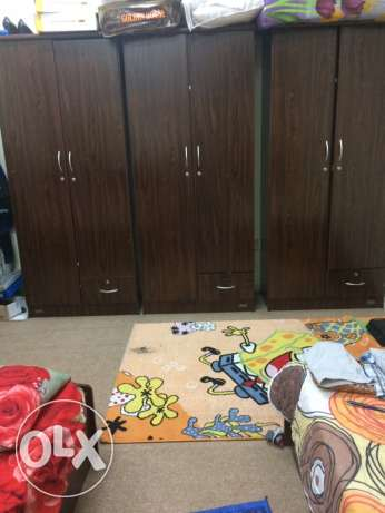 3 Cupboard and 3 Beds and 3 Matress