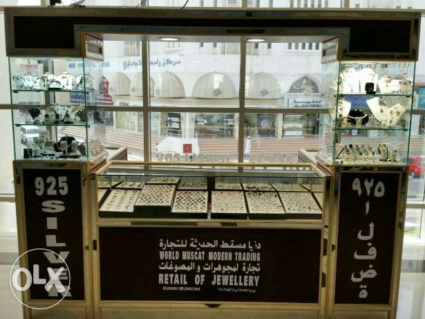 Silver jewellery kiosk for Sale السيب -  2