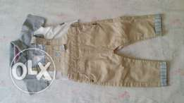 Boy overall, t-shirt and shoes - 8 rials for all