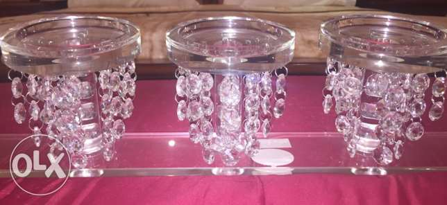 5 crystal candle stand