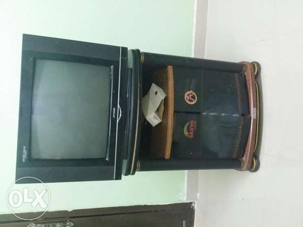 TV with trolley and receiver