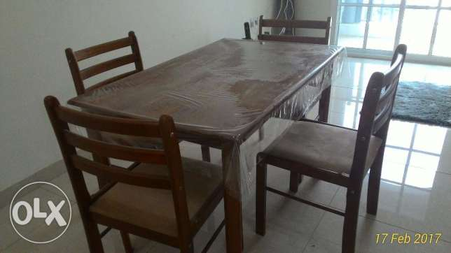 Four Seats Dinning Table and a Small Rag مسقط -  2