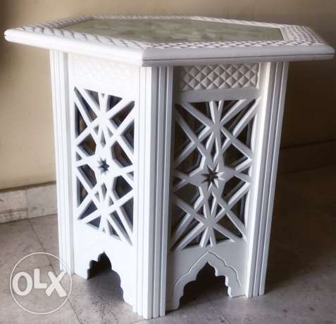 Hand carved tea table