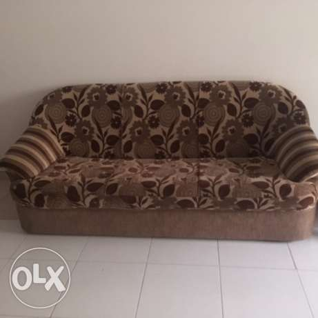 3+2+2 Sofa-Wooden Central Table-Al Khuwair Near Al Karama Hyper market