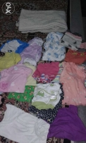 Baby girl clothing and blanket