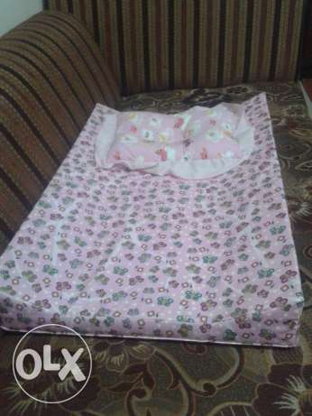 Baby massage bed (washable) with baby pillow