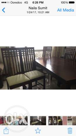 Brand new Dining table with 6 seater Chairs