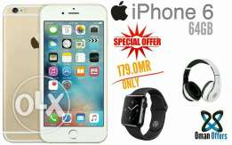 Original Iphine 6 64GB new with warranty and Free Gifts