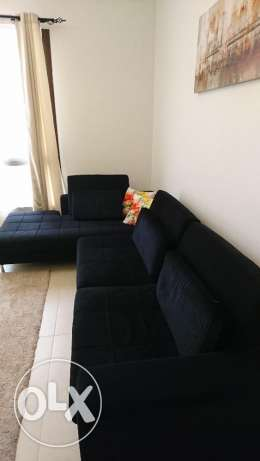 Sofa L-shape, very nice condition with cushion مسقط -  3