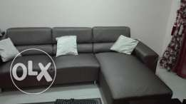 L- shape sofa with 2 side table for sale