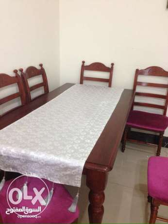 Table with 6chairs for sale