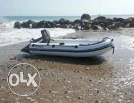 inflat boat with engine قارب نفخ للبيع مع محرك