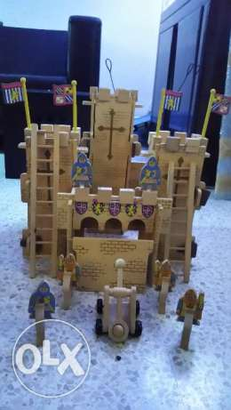 Solid wooden castle