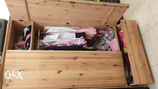 Chest of drawers and wardrobe