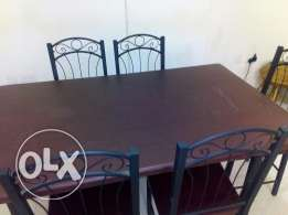 Last minute sale !! Dining table with 6 chairs for sale